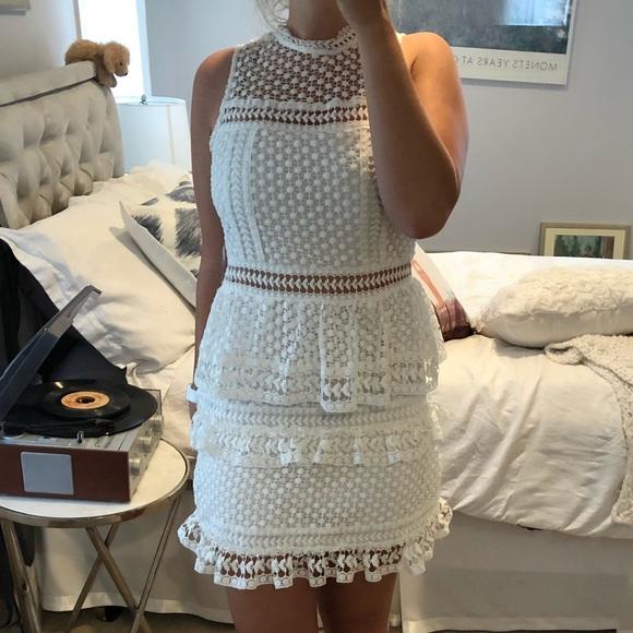 e0bce880b5 Red Dress Boutique Dresses | Reposh White Highneck Lace Dress | Poshmark